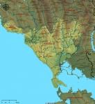 Ν. Πρεβέζης. Γεωφυσικός χάρτης.